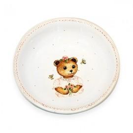 Assiette à bouillie en faïence peint à la main