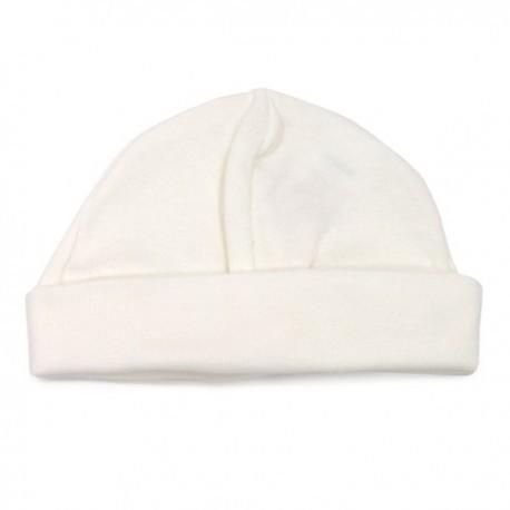 Bonnet de naissance en coton blanc