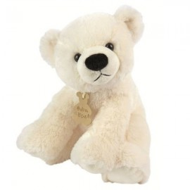 Seated Polar Bear Soft Toy 23 cm (0.75 ft)