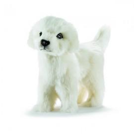 Peluche chien Belle debout 20 cm