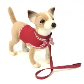 Peluche Chihuahua et t-shirt rouge