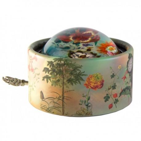 Boîte à musique presse-papiers lentille - Valse des fleurs