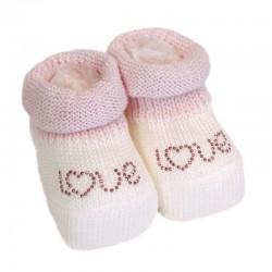 Chaussons bébé - Love