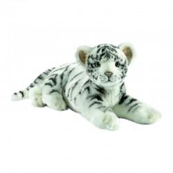 Peluche Tigre blanc couché 35 cm