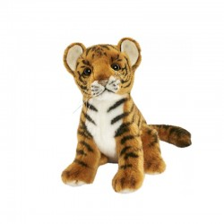 Peluche Tigre Brun Bébé assis 20 cm