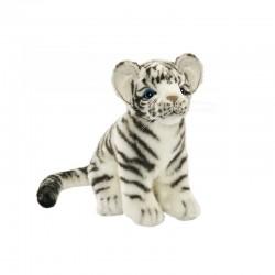 Peluche Tigre Blanc Bébé assis 20 cm