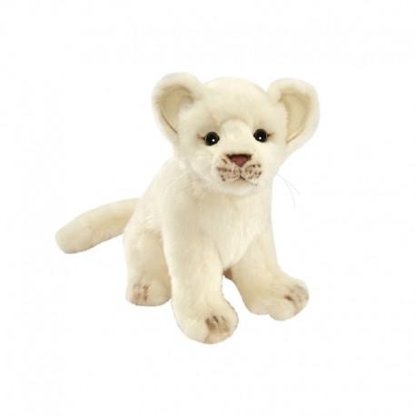 Peluche Lion Blanc Bébé assis 20 cm