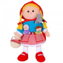 Marionnette Petit Chaperon Rouge et ses 3 marionnettes à doitgs