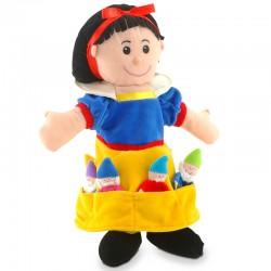 Marionnette Blanche Neige et ses 7 marionnettes à doitgs