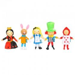Marionnettes à doigts - Alice au pays des merveilles