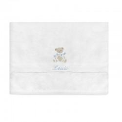 Serviette de toilette blanche personnalisée - 3 ours