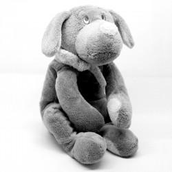 Peluche chien Fifi gris foncé - 30 cm