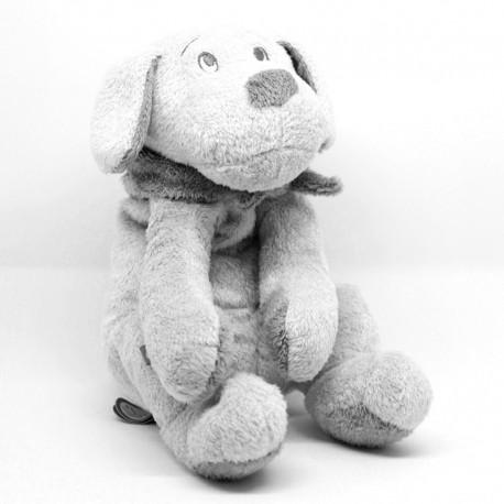 Peluche chien Fifi gris clair - 30 cm