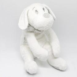 Peluche chien Fifi blanc - 30 cm