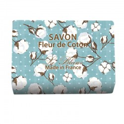 Lot de 2 savons - Parfum Fleur de Coton illustré