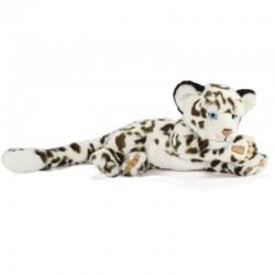 Peluche Léopard des Neiges Couché 26 cm