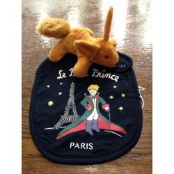 Bavoir et Doudou coton Le Petit Prince